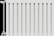 Viking aluminium radiátor 300 mm kötéstáv 5 tag
