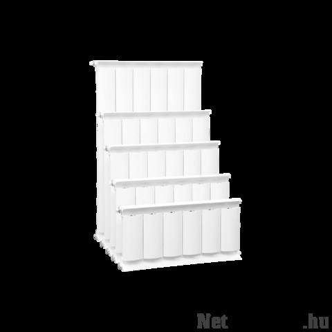 Romantik Plus fehér szinterezett aluminium radiátor 600mm kötéstáv 1 tagos